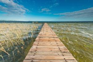 A jetty leading into the water at Kosi Bay