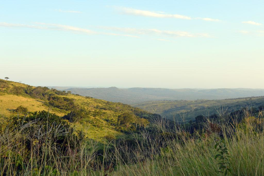 Views across the Hluhluwe-iMfolozi Park in South Africa