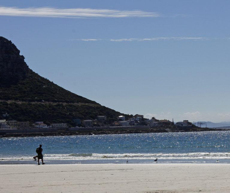 A beach in the False Bay close to Cape Town, South Africa