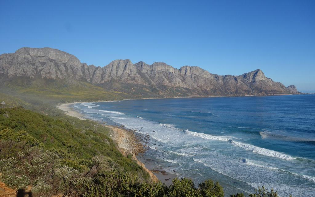 Mountain panorama of the False Bay near Cape Town, South Africa