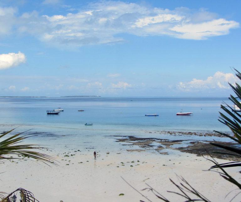 A tropical beach in Zanzibar, Tanzania