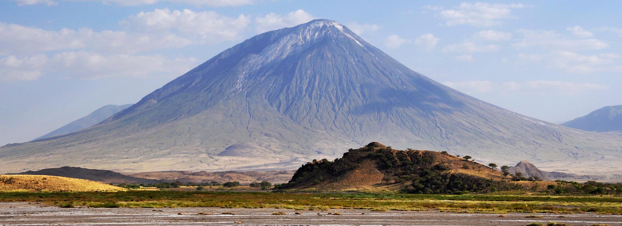 Ol Doinyo Lengai, the holy mountain of the Masai, in Tanzania