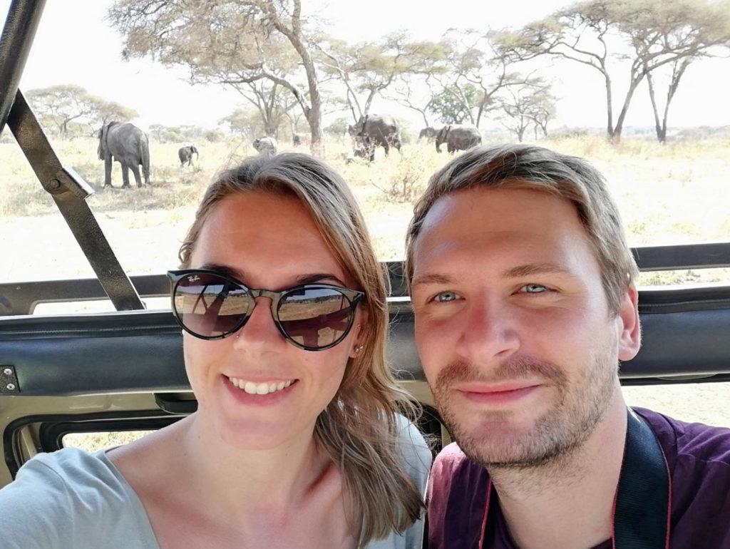 Selfie on a Tanzania Safari