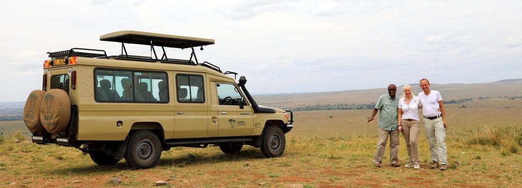 Petra and Dirk on Safari in Kenya